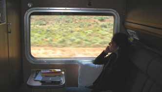 Nora Dunn on Train
