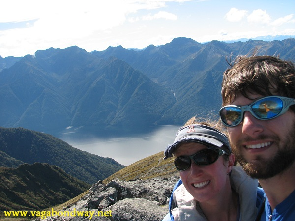 I don't have any pictures of the slices from NZ, but here's us with Milford Sound in the background.