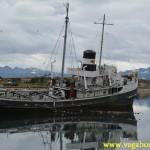 Sunken boat in Ushuaia