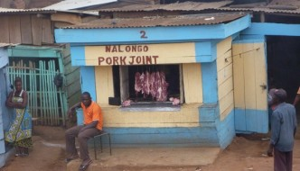 Pork Joint In Uganda, Africa