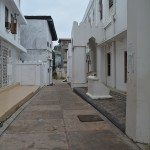 white street in zanzibar, africa
