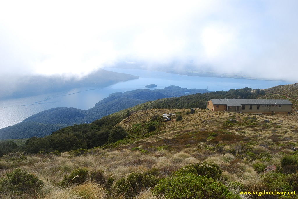 view from hut on Kepler hike, NZ