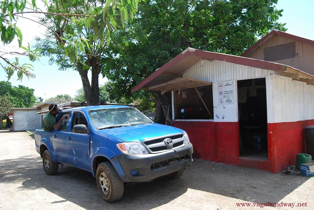 Gas station in Vanuatu