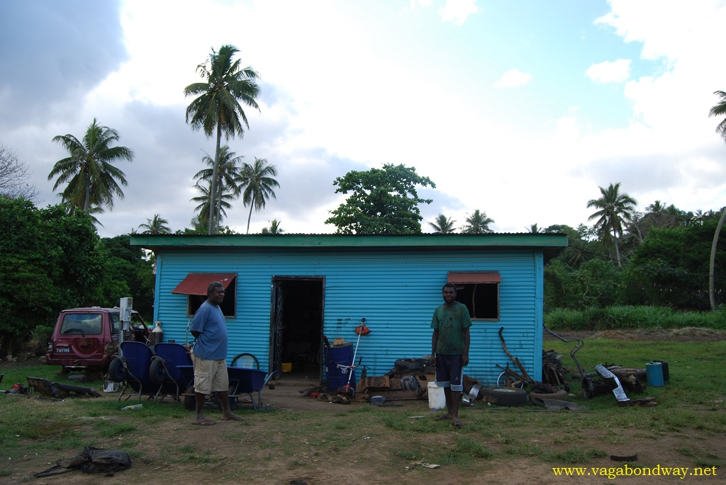 Mechanic shop in Vanuatu