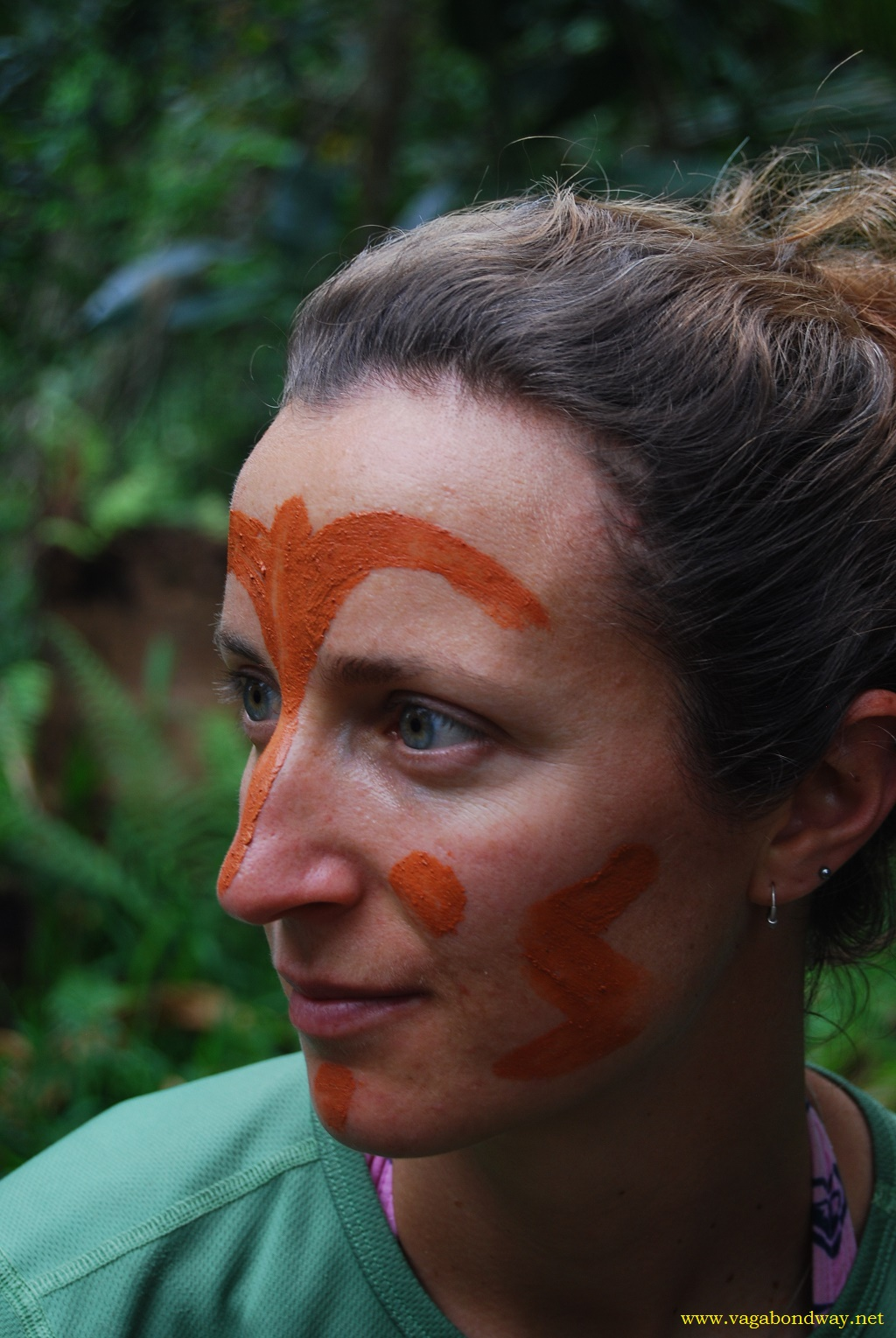 Tiff with tradional face in Vanuatu