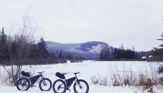 OptOutside on a Fat Bike in Vermont