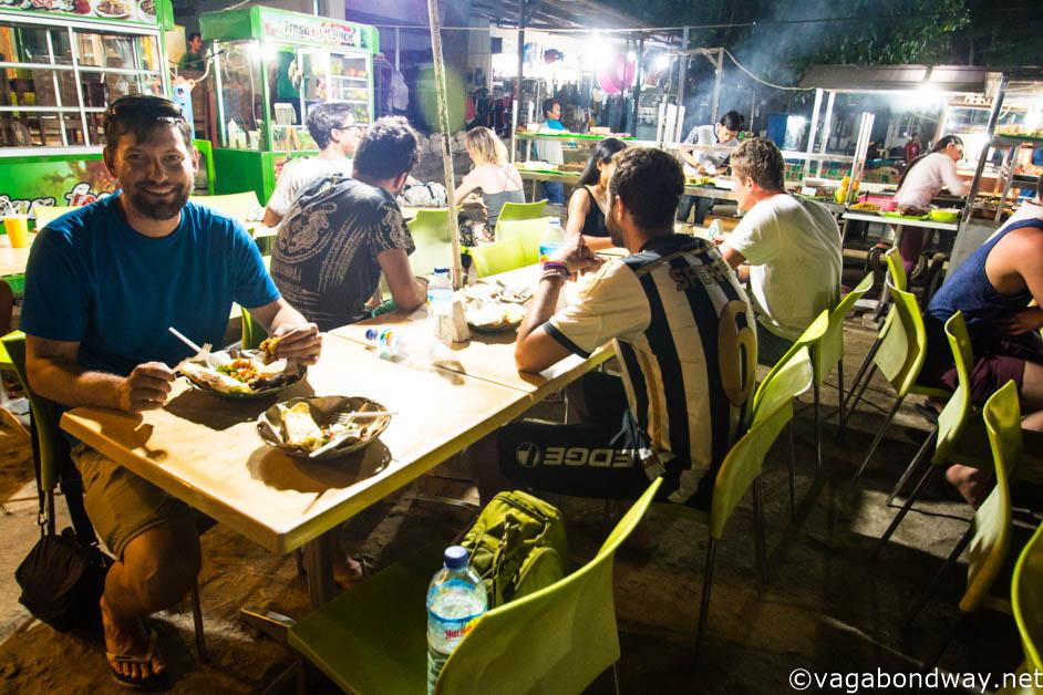 Chris at Night market food on Gili Trawangan (1 of 1)