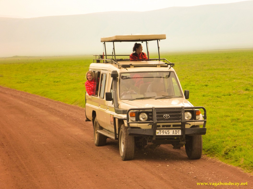Ngorongoro safari vehicle