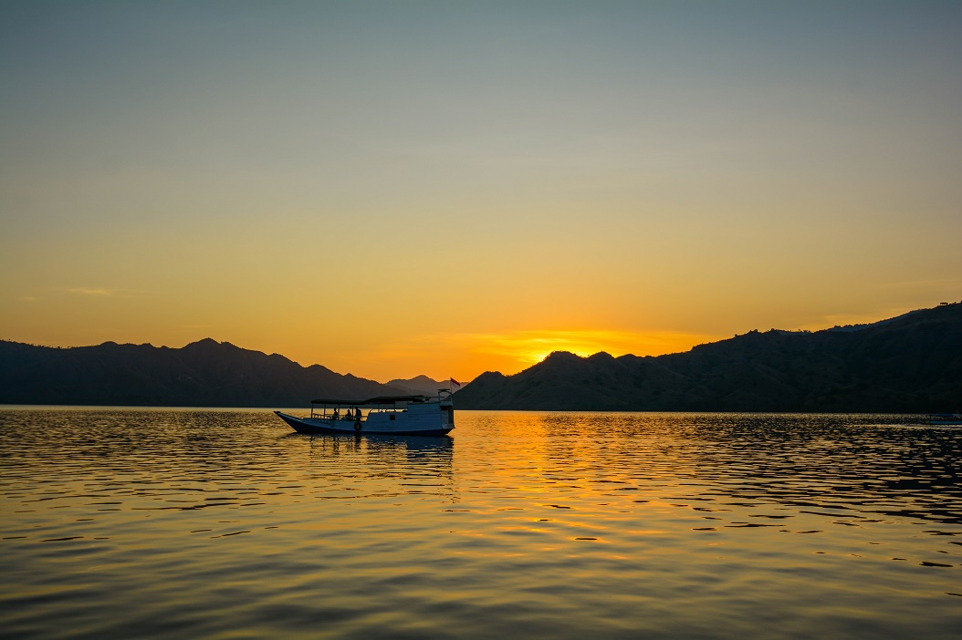 Sunset near Flores Indonesia