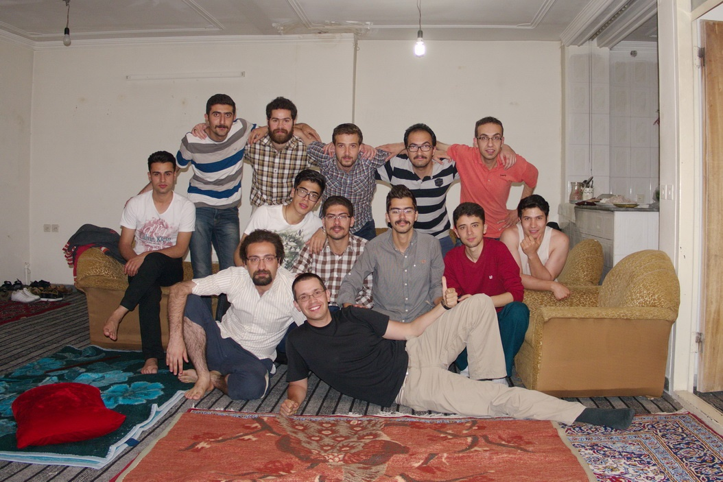 Hanging with the dudes in Tabriz - Iran
