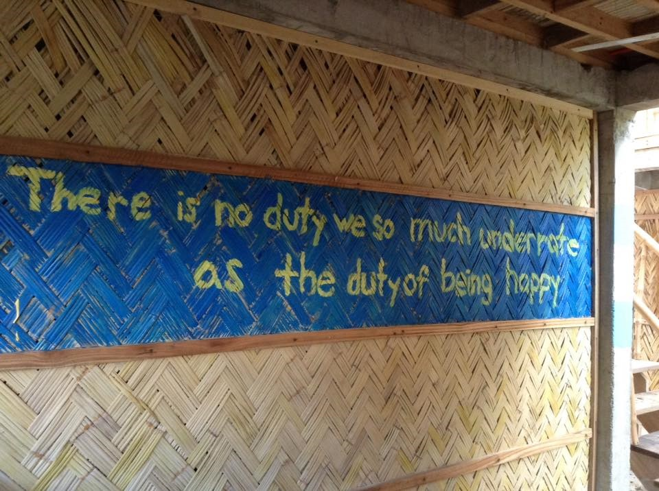 wrote-favorite-quote-in-philippines-hostel
