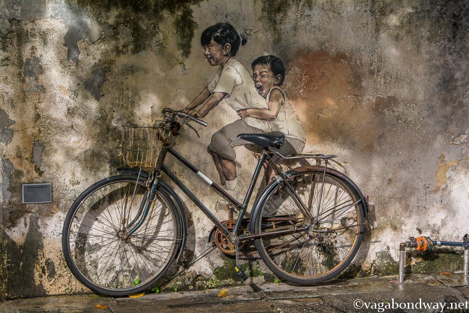 Famous Penang Street Art Malaysia